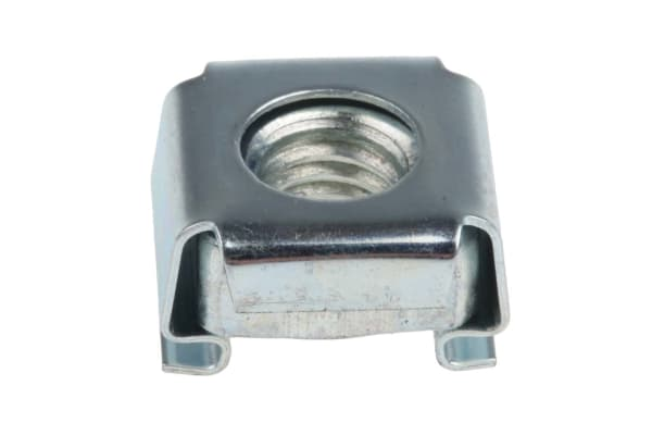 Product image for ZnPt steel narrow type caged nut,M6