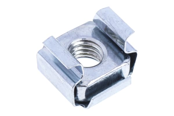 Product image for ZnPt steel wide type caged nut,M6