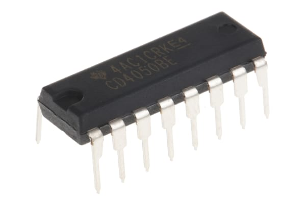 Product image for CMOS NON-INVERTING BUFFER/CONVERT CD4050