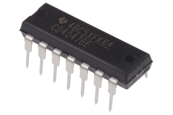 Product image for CMOS MONO/ASTABLE MULTIVIBRATOR CD4047BE