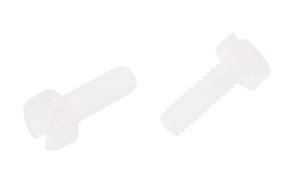 Product image for Nylon 6.6 slot cheese head screw,M2x6mm