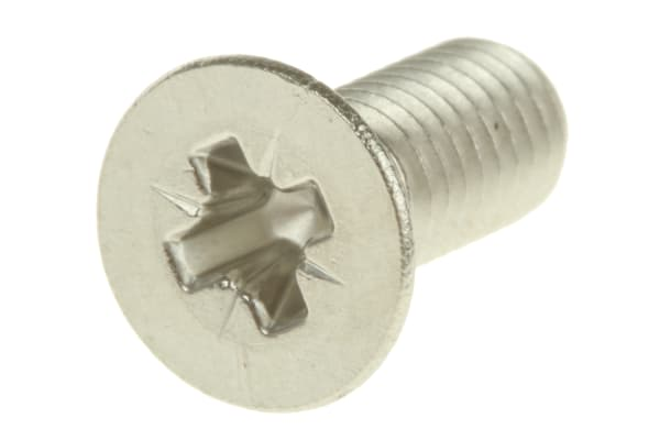 Product image for A2 s/steel cross csk head screw,M5x12mm