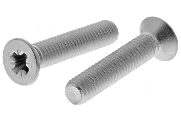 Product image for A2 s/steel cross csk head screw,M5x25mm