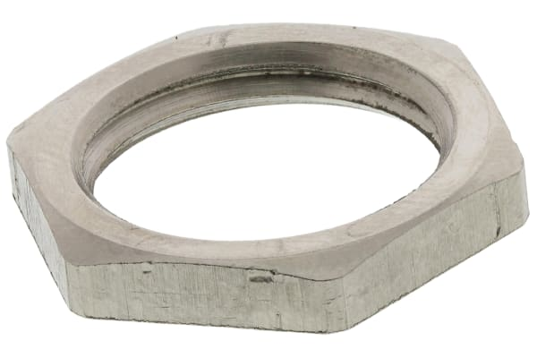Product image for LOCKNUT METAL PG9 NICKEL PLATE
