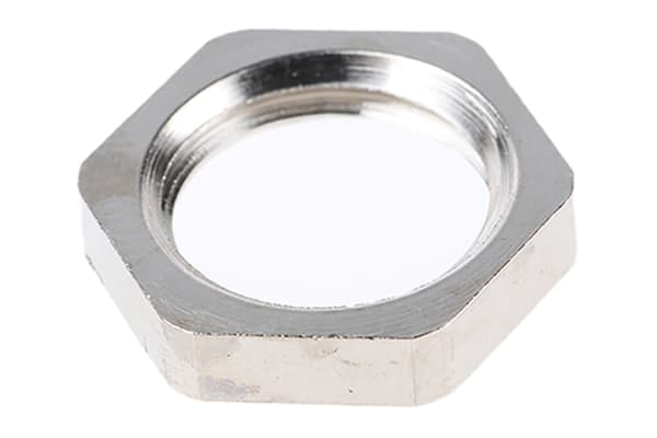 Product image for LOCKNUT METAL ISO12 NICKEL PLA