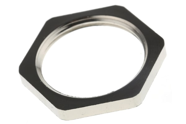 Product image for LOCKNUT METAL ISO25 NICKEL PLA