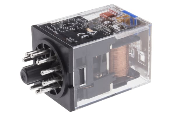 Product image for 11 pin 3PDT relay,10A 24Vdc coil
