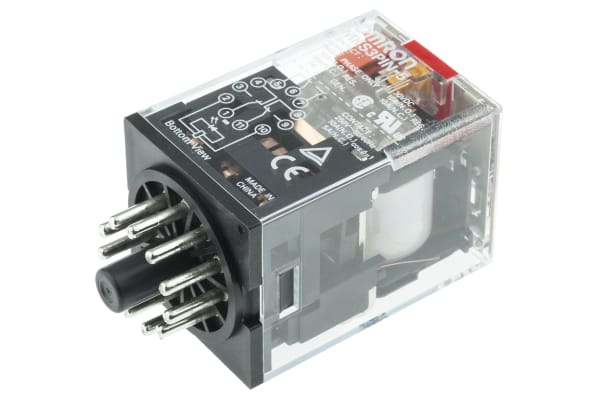 Product image for 11 pin 3PDT relay w/ LED,10A 230Vac coil