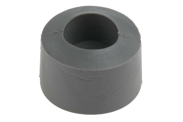 Product image for Grey screw fixing feet,19mm diax10.2mm H