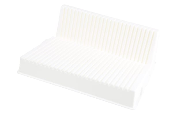 Product image for White polypropylene moulded PCB rack