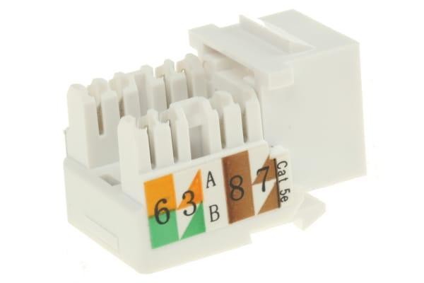 Product image for Jack UTP Cat 5e standard 90D-White