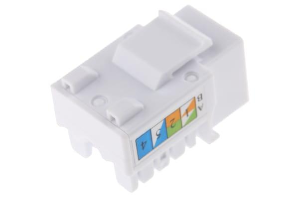 Product image for Jack Cat 6 UTP standard 90D-White
