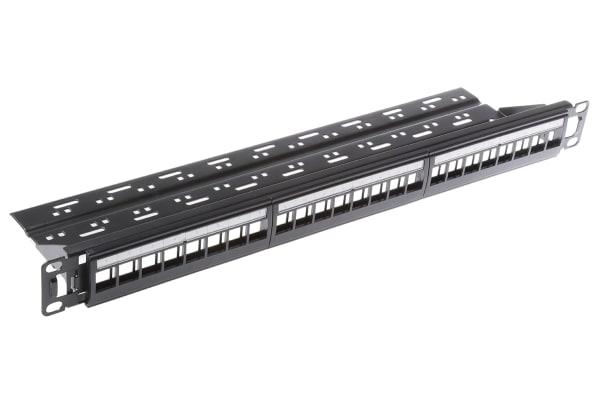 Product image for Frame 24 port Black RAL 7035