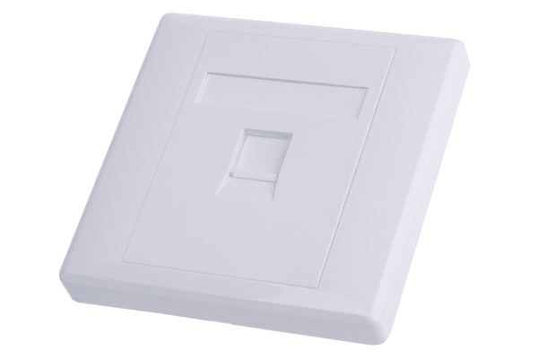 Product image for Shuttered face plate 1port white