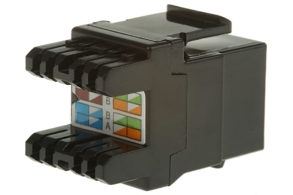 Product image for Jack Cat 6 UTP with shutter Black