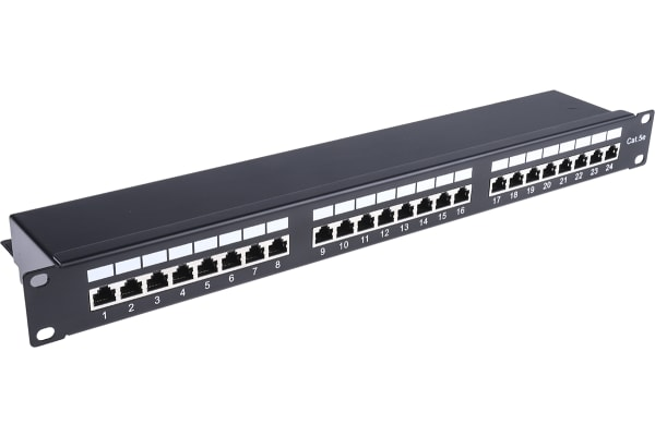 Product image for Cat 5e STP 24 port Shielded patch panel
