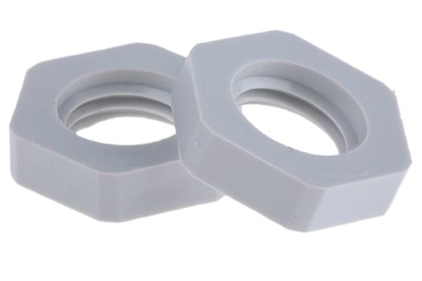 Product image for LOCKNUT M12 PLASTIC GREY.