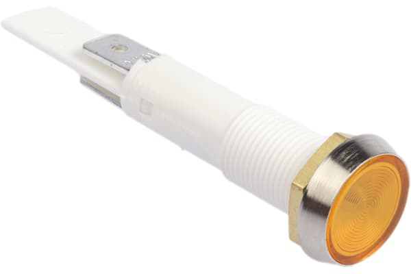 Product image for Arcolectric Orange neon Indicator, Tab Termination, 230 V ac, 10mm Mounting Hole Size