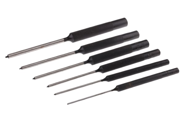 Product image for 6 piece spring tension pin punch set