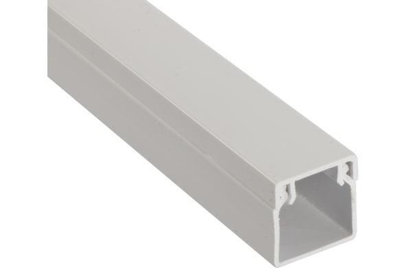 Product image for WHITE PVC STD MINI TRUNKING,16X16MM 3M L