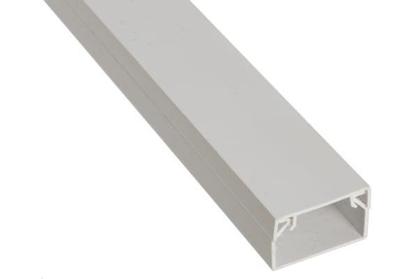 Product image for WHITE PVC STD MINI TRUNKING,25X16MM 3M L