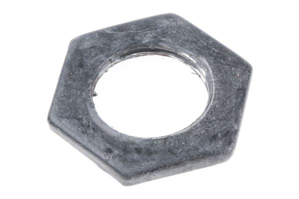 Product image for Blk enamel steel locknut,M16x2.87mm T