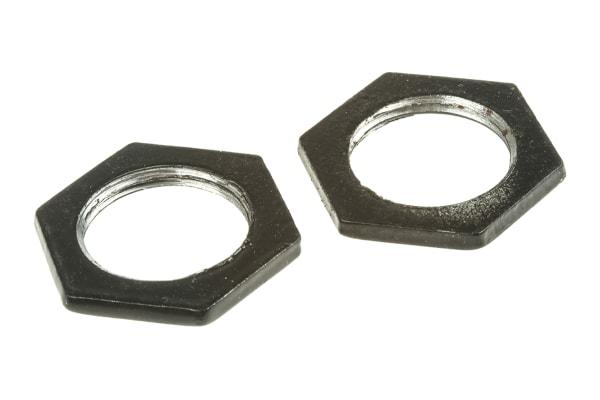 Product image for Blk enamel steel locknut,M20x2.87mm T