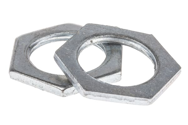 Product image for Galvanised steel locknut,M20x2.87mm T