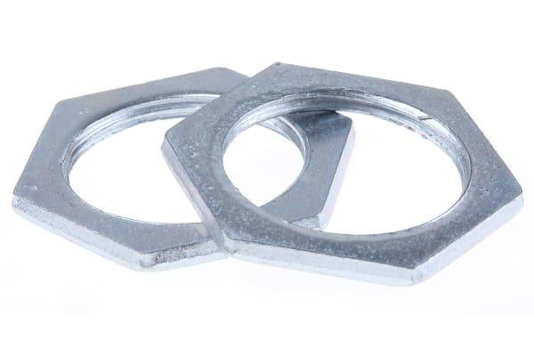 Product image for Galvanised steel locknut,M25x2.87mm T