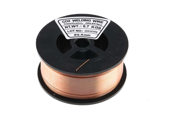 Product image for Steel wire for MIG welder,0.6mm 0.7kg
