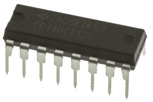 Product image for BCD-DECIMAL INVERTING DECODER,CD74HCT42E