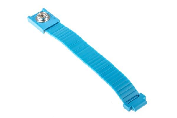 Product image for 10mm male press stud adj metal wristband
