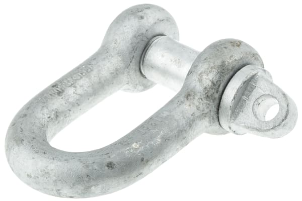 Product image for Galvanised steel D shackle w/pin,3.5ton