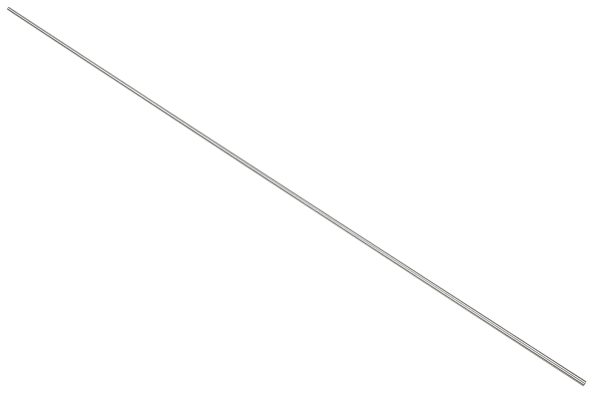 Product image for 303S31 stainless steel rod,1m L 6mm dia