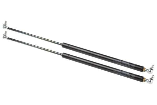 Product image for Camloc Steel Gas Strut, with Ball & Socket Joint, End Joint 250mm Stroke Length