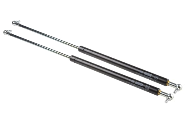 Product image for Camloc Steel Gas Strut, with Ball & Socket Joint, End Joint 300mm Stroke Length