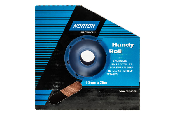 Product image for Norton P120 Fine Sandpaper Roll, 25m x 50mm