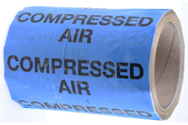 Product image for Pipe marking tape 'COMPRESSED AIR',150mm