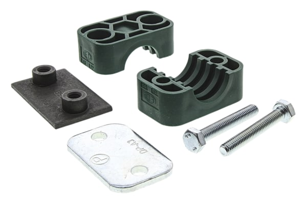 Product image for Hydraulic single tube clamp,22mm OD tube