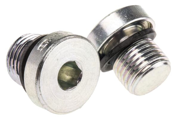 Product image for G1/4 zinc plated steel blanking plug