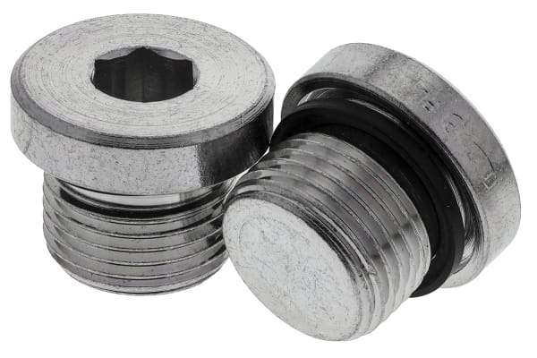 Product image for G3/8 zinc plated steel blanking plug