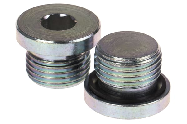 Product image for G1/2 zinc plated steel blanking plug
