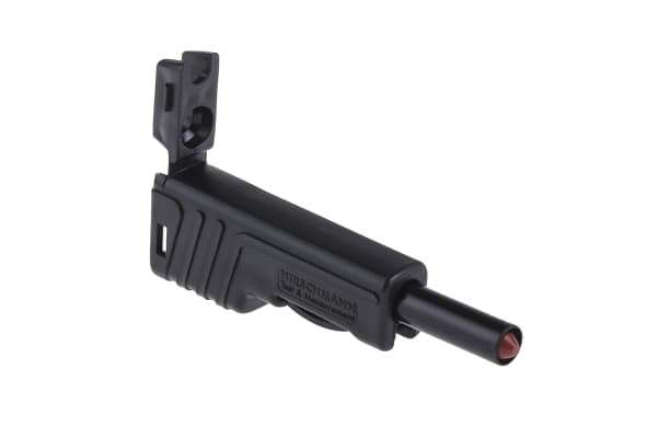 Product image for Black retractable shroud-stackable plug