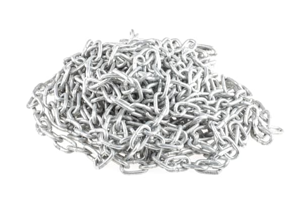 Product image for 10m galvanised steel chain,19Lx4mm