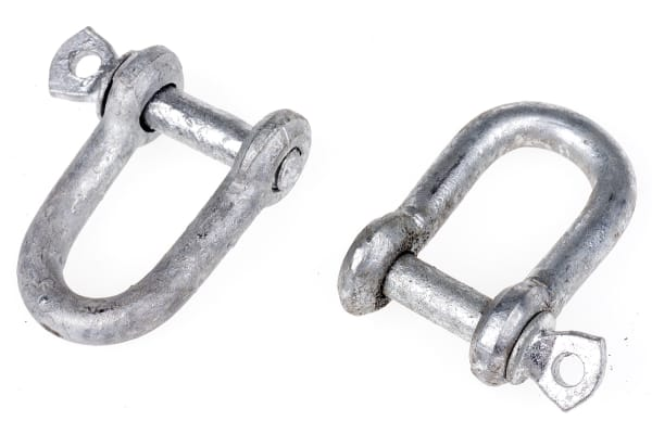 Product image for Zn plated steel dee shackle,5x5mm