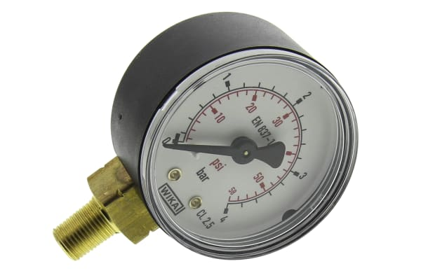Product image for BOTTOM CONN PRESSURE GAUGE, R1/8,0-4BAR