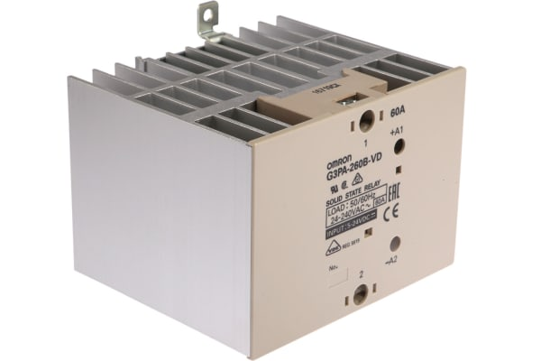 Product image for Solid state relay,60A 75-264Vac