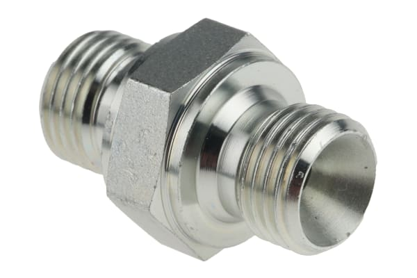 Product image for 1/4in BSPP M-M ZnPt steel union adaptor