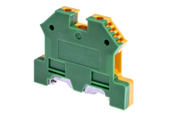 Product image for TS35/top hat DIN rail earth terminal