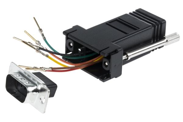 Product image for 6 way RJ11 to 9 way D plug data adaptor